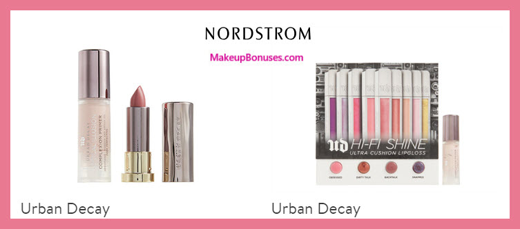 Receive a free 4-pc gift with $55 Urban Decay purchase