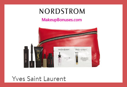 Receive a free 6-pc gift with $150 Yves Saint Laurent purchase