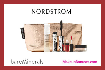 Receive a free 5-pc gift with $60 bareMinerals purchase