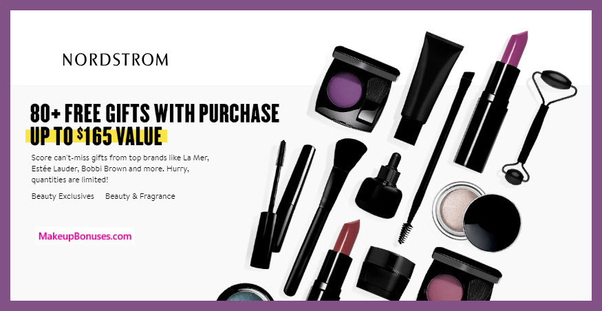 Nordstrom Anniversary Sale - Over 80 GWP Beauty Offers! MakeupBonuses.com