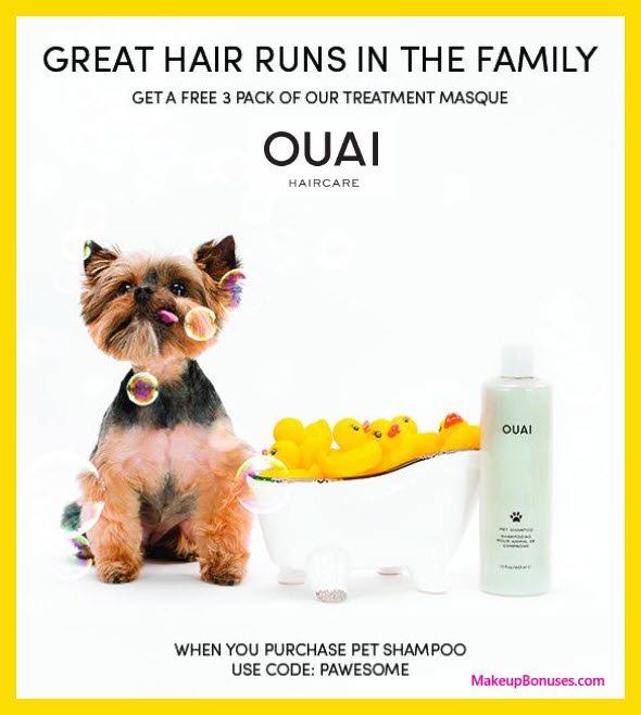 Receive a free 3-pc gift with Pet Shampoo purchase
