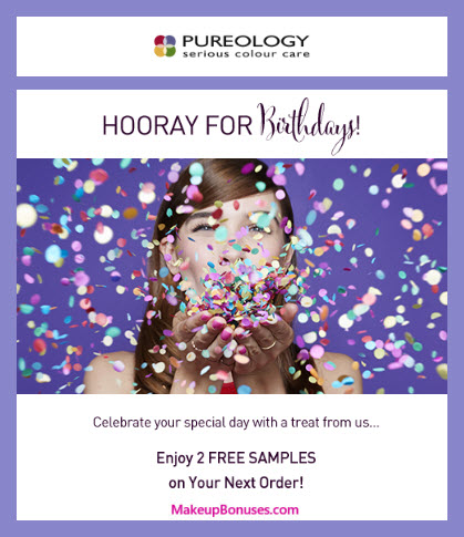 Pureology Birthday Gift - MakeupBonuses.com #Pureology