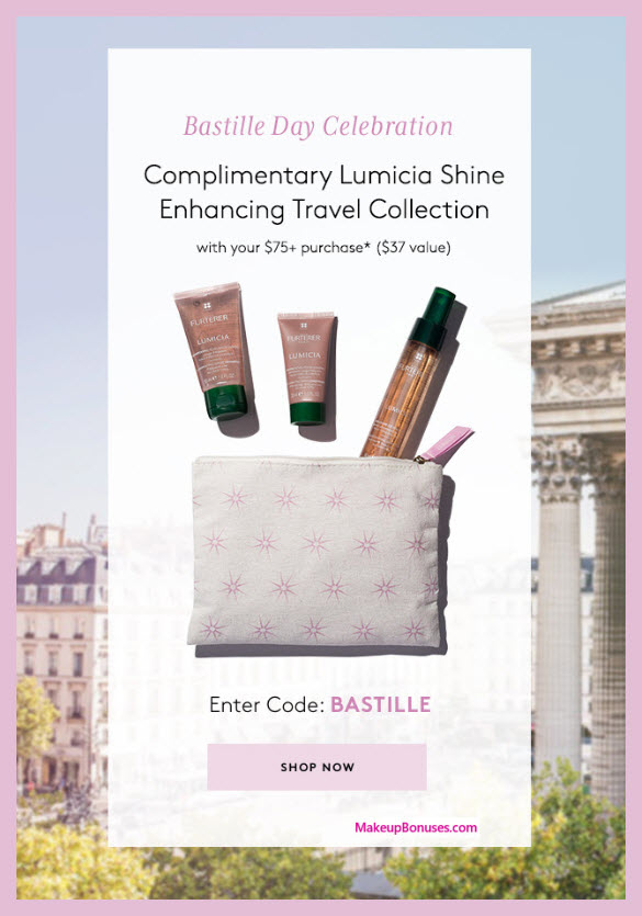 Receive a free 4-pc gift with $75 René Furterer purchase