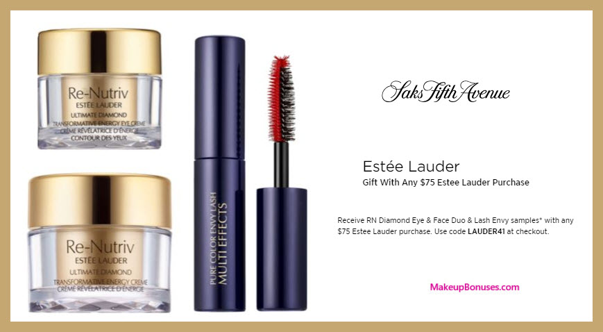 Receive a free 3-pc gift with $75 Estée Lauder purchase