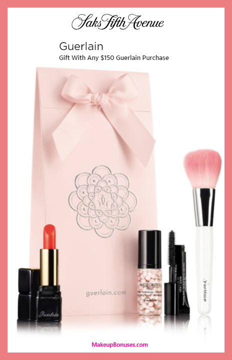 Receive a free 3-pc gift with $150 Guerlain purchase
