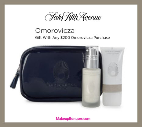 Receive a free 3-pc gift with $200 Omorovicza purchase