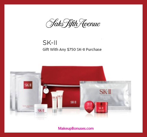 Receive a free 8-pc gift with $750 SK-II purchase