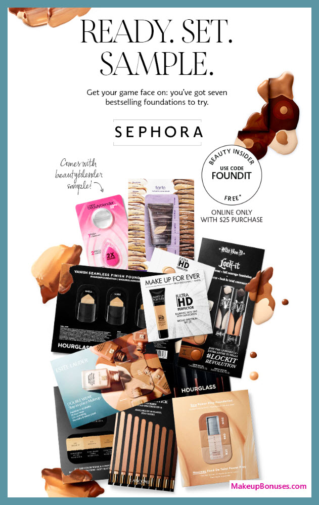 Receive a free 8-pc gift with $25 Multi-Brand purchase