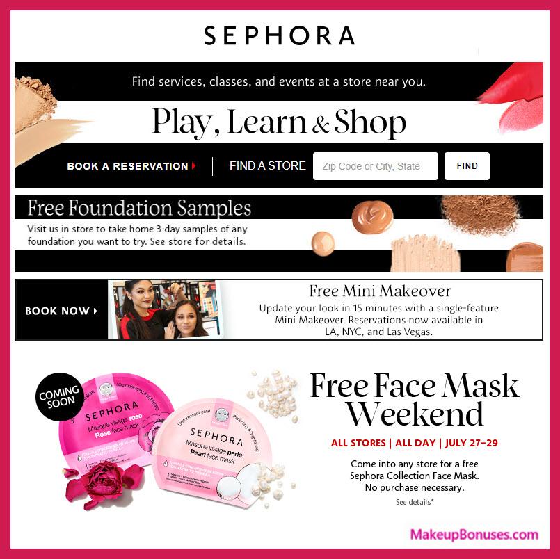 Sephora Free Face Mask MakeupBonuses.com