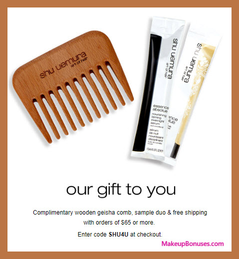 Receive a free 3-pc gift with $65 Shu Uemura Art of Hair purchase