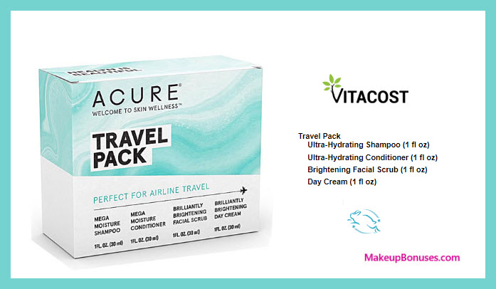 Receive a free 4-pc gift with $35 Acure Organics purchase