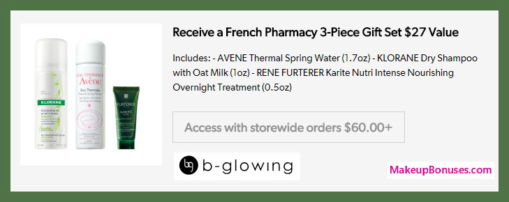 Receive a free 3-pc gift with $60 Multi-Brand purchase