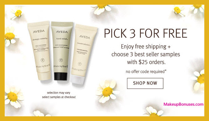 Receive your choice of 3-pc gift with $25 Aveda purchase