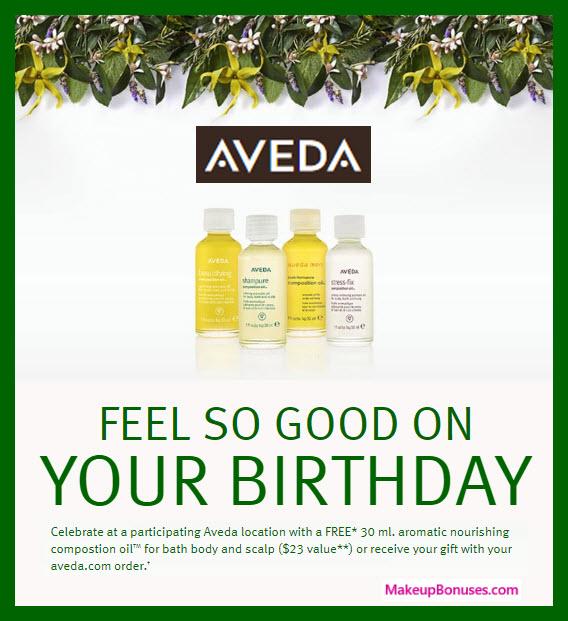 Aveda Birthday Gift - MakeupBonuses.com #aveda #CrueltyFree