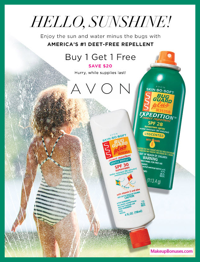 Receive a free 3-pc gift with 3 Skin So Soft Bug Guard purchase