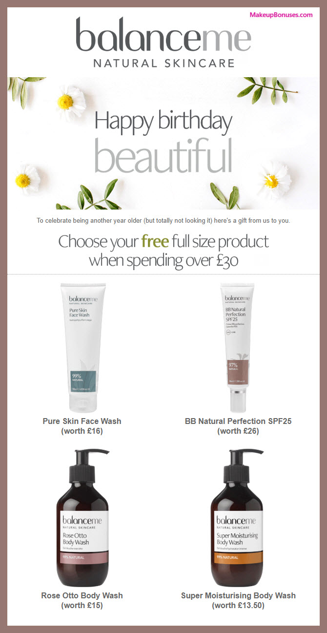 Balance Me Birthday Gift - MakeupBonuses.com #BalanceMeBeauty