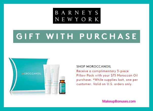 Receive a free 3-pc gift with $75 Moroccanoil purchase