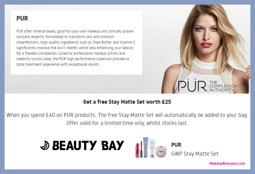 Receive a free 4-pc gift with ~$53 (40 GBP) purchase