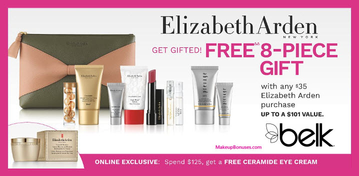 Receive your choice of 8-pc gift with $35 Elizabeth Arden purchase