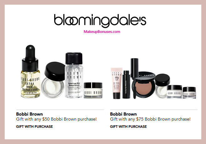 Receive your choice of 5-pc gift with $75 Bobbi Brown purchase
