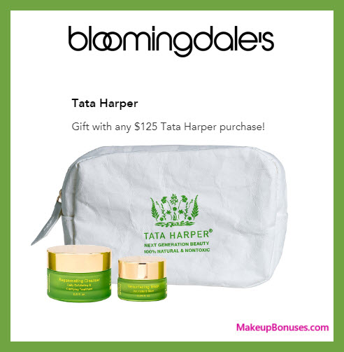 Receive a free 3-pc gift with $125 Tata Harper purchase