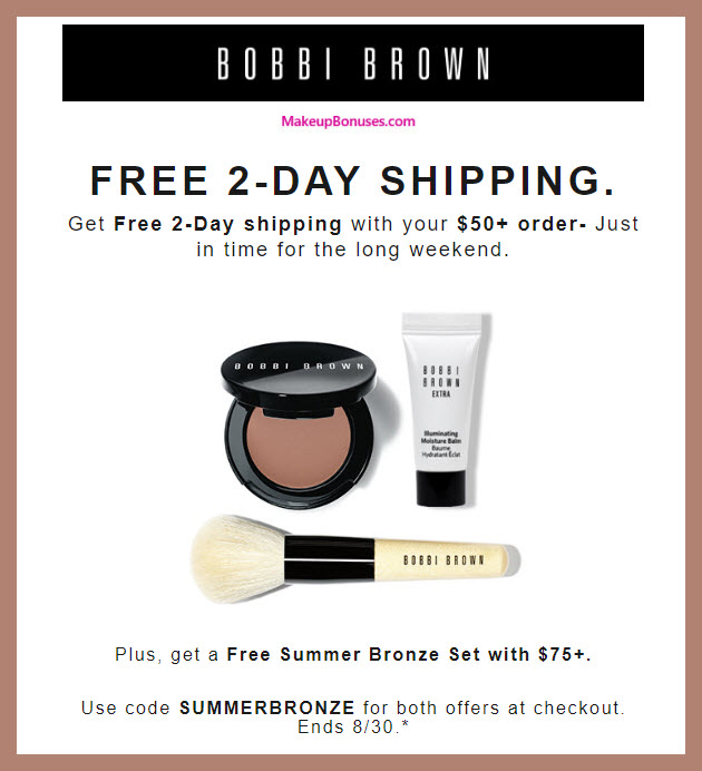 Receive a free 3-pc gift with $75 Bobbi Brown purchase