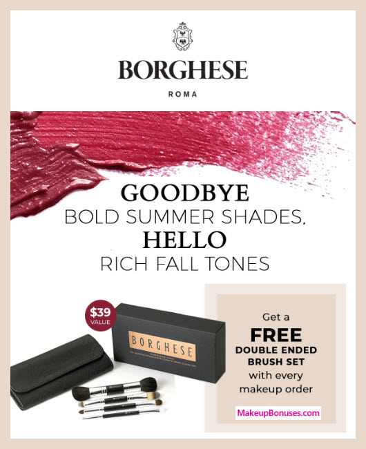 Receive a free 5-pc gift with makeup orders purchase
