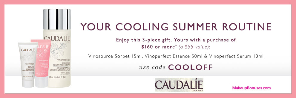 Receive a free 3-pc gift with $160 Caudalie purchase