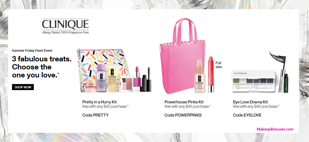 Receive a free 7-pc gift with $40 Clinique purchase