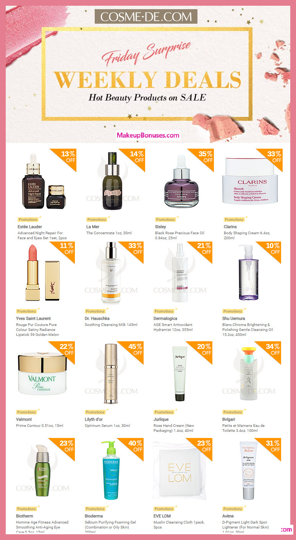 Cosme-De.com Sale - MakeupBonuses.com