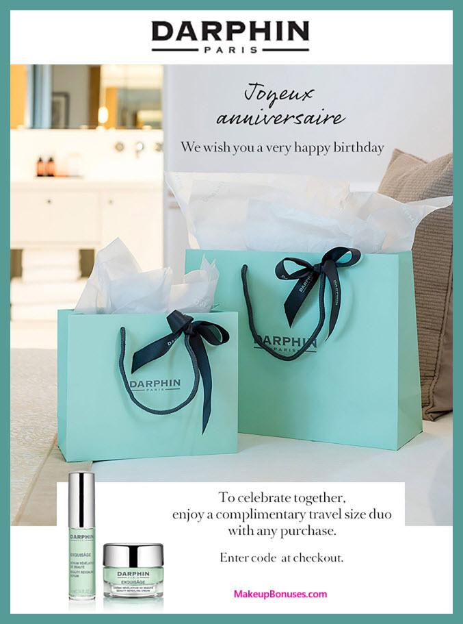 Darphin Birthday Gift - MakeupBonuses.com #Darphin