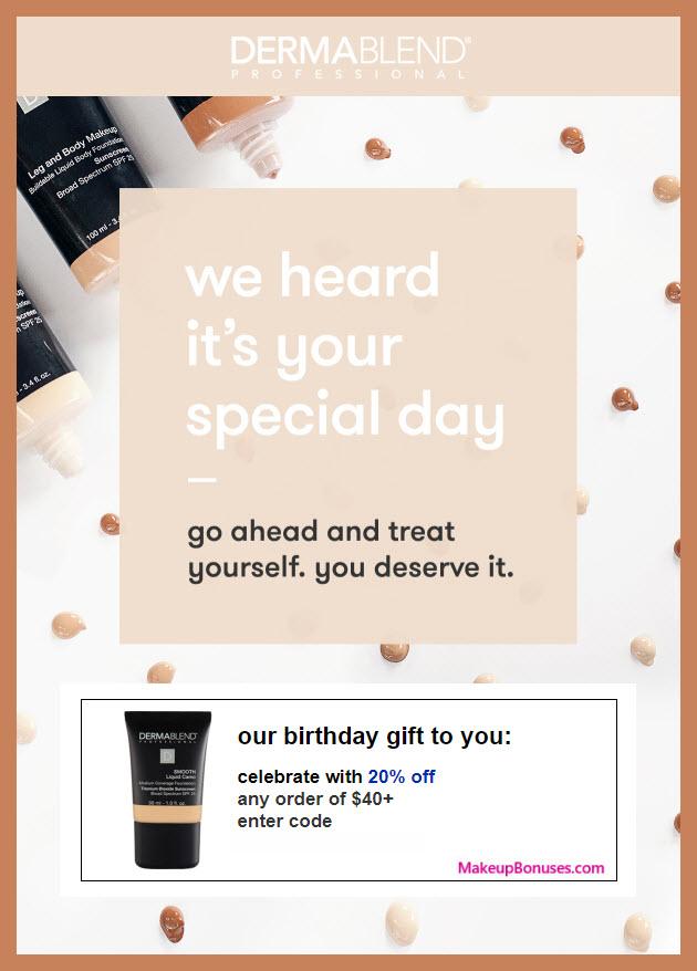 Dermablend Birthday Gift - MakeupBonuses.com #dermablend