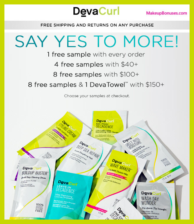 Receive a free 9-pc gift with $150 DevaCurl purchase