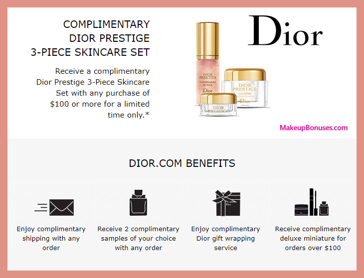 Receive a free 3-pc gift with $100 Dior Beauty purchase