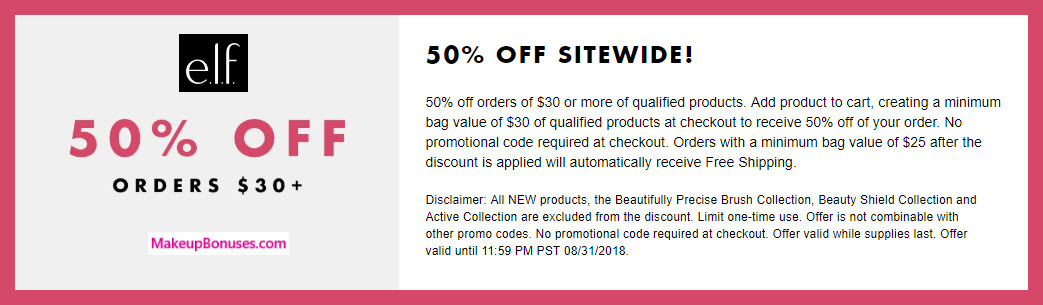 ELF Cosmetics Sale - MakeupBonuses.com