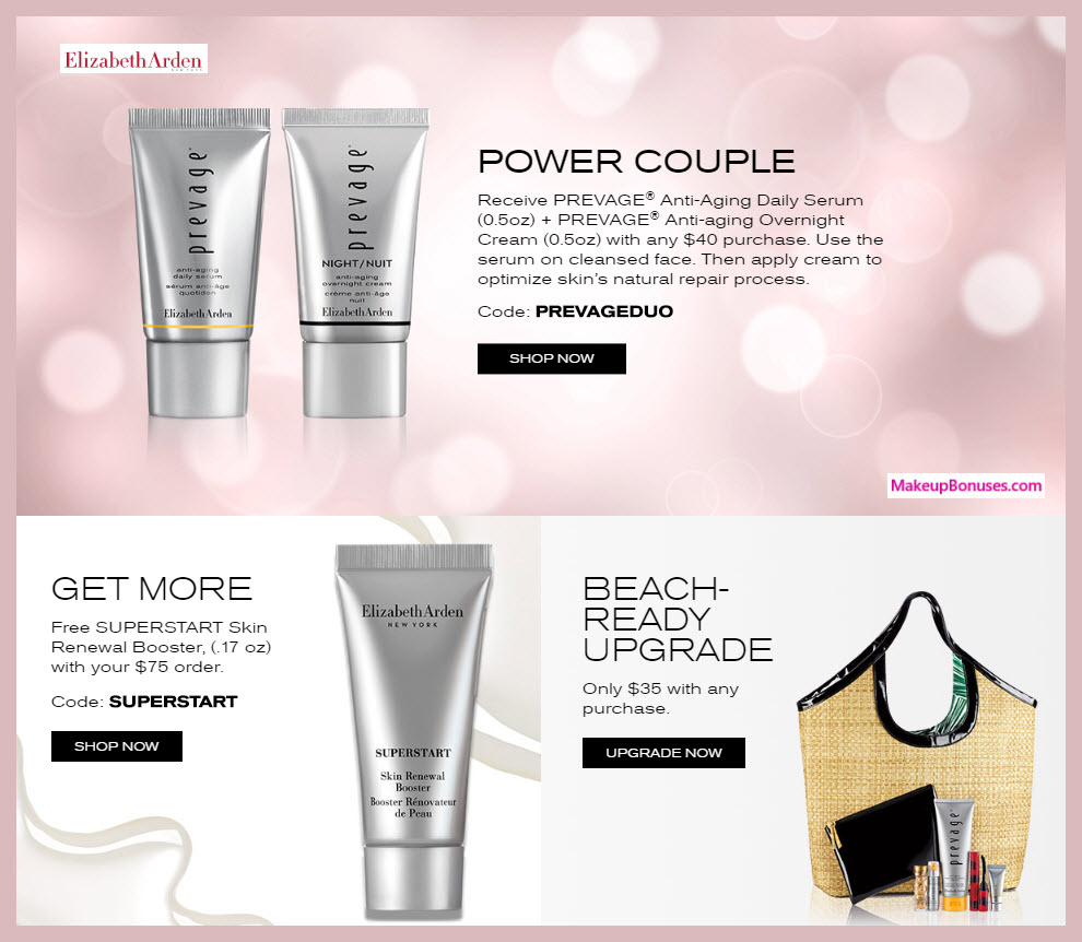 Receive a free 3-pc gift with $75 Elizabeth Arden purchase