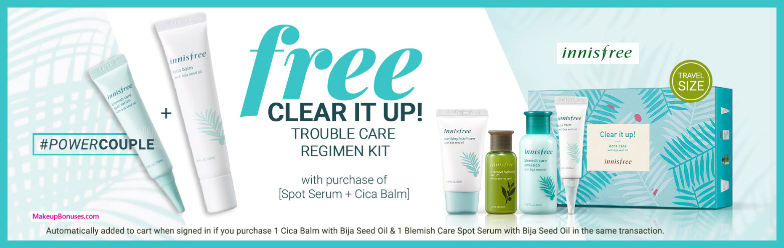 Receive a free 4-pc gift with Spot Serum + Cica Balm purchase