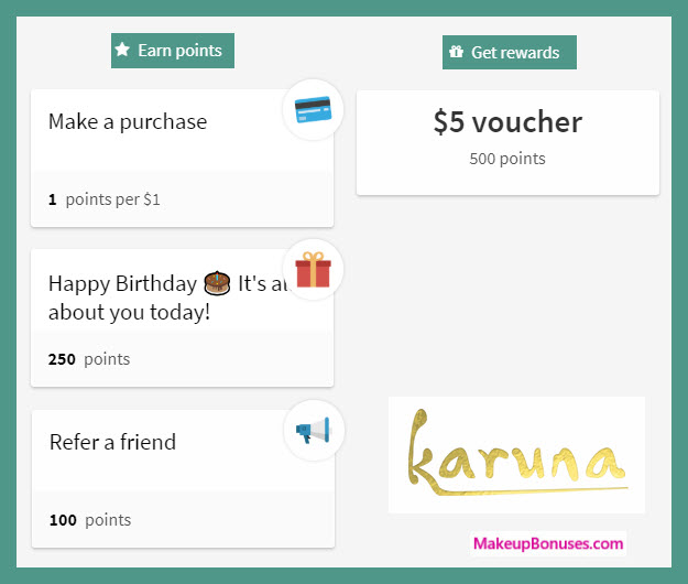 Karuna Birthday Gift - MakeupBonuses.com #karunaskin