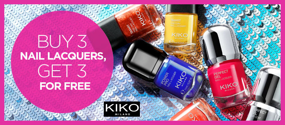 Receive a free 3-pc gift with 3 nail lacquers purchase