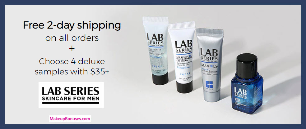 Receive your choice of 4-pc gift with $35 LAB SERIES purchase