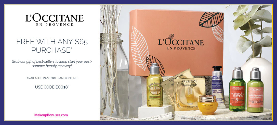Receive a free 7-pc gift with $65 L'Occitane purchase
