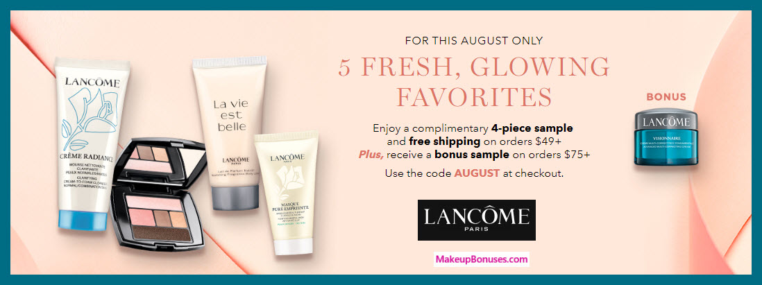 Receive a free 4-pc gift with $49 Lancôme purchase