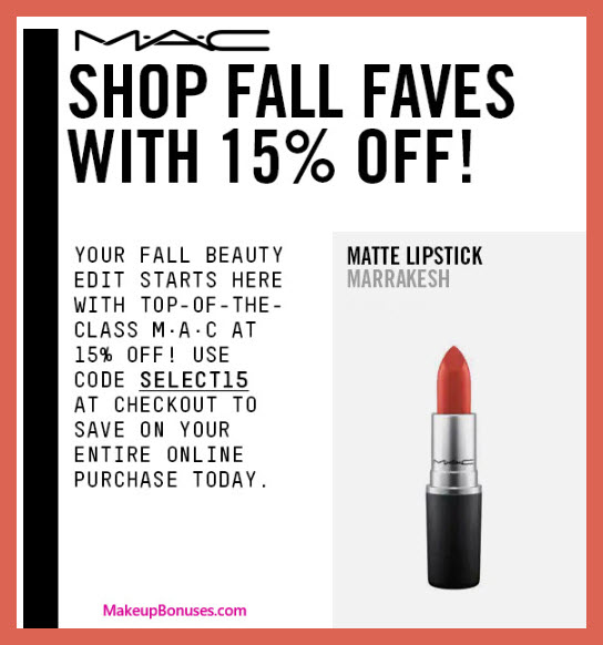 MAC Cosmetics Sale - MakeupBonuses.com