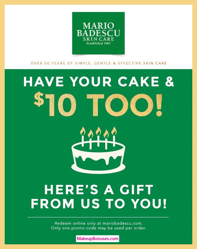 Mario Badescu Birthday Gift - MakeupBonuses.com #MarioBadescu