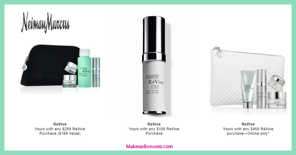 Receive a free 5-pc gift with $250 RéVive purchase