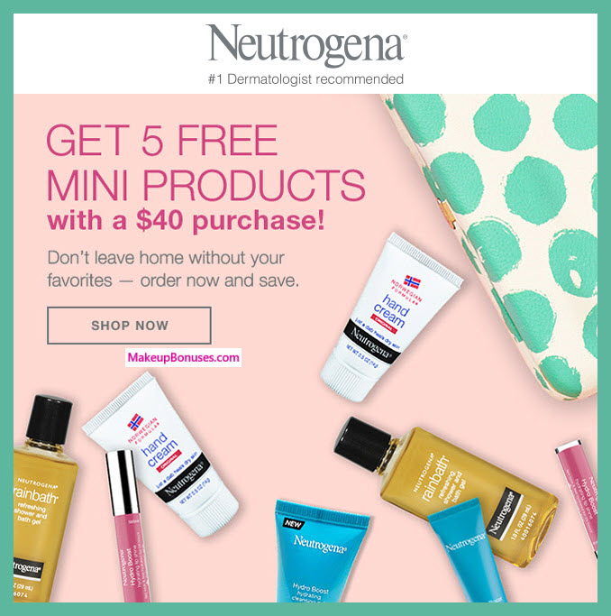 Receive a free 5-pc gift with $40 Neutrogena purchase