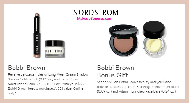 Receive a free 4-pc gift with $90 Bobbi Brown purchase