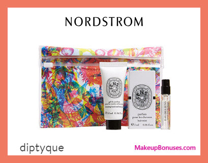 Receive a free 3-pc gift with $130 Diptyque purchase