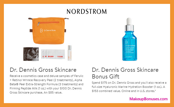 Receive a free 7-pc gift with $100 Dr Dennis Gross purchase