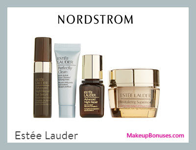 Receive a free 4-pc gift with $49.5 Estée Lauder purchase